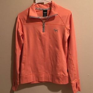 Victoria's Secret pink quarter zip